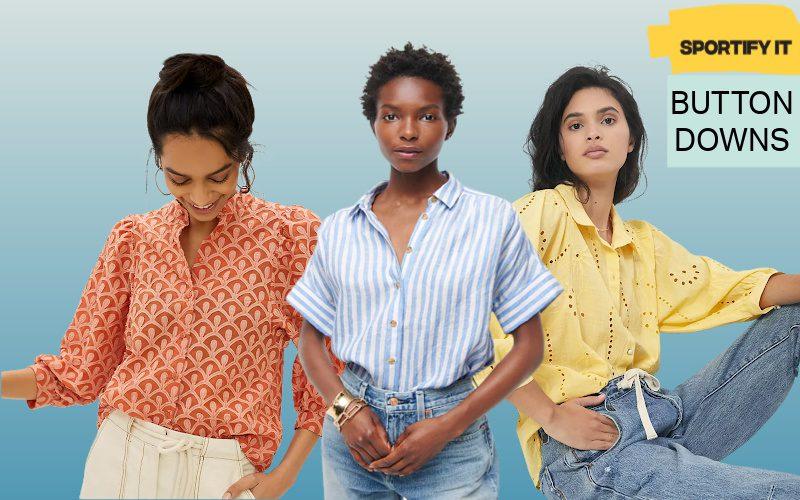 women's button down shirts
